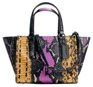Coach Mini Crosby Carryall Exotic Embossed 37286 Tote in MULTIWILDFLOWER