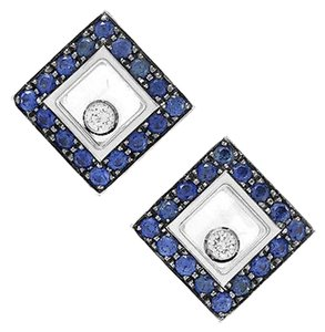 Chopard Chopard Happy Diamonds 18k White Gold Sapphire Stud Earrings