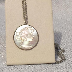 Cameo Sterling Silver Medallion