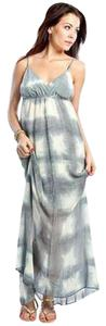 Gray and White Maxi Dress by Gypsy05 Checkerboard Tie Dye