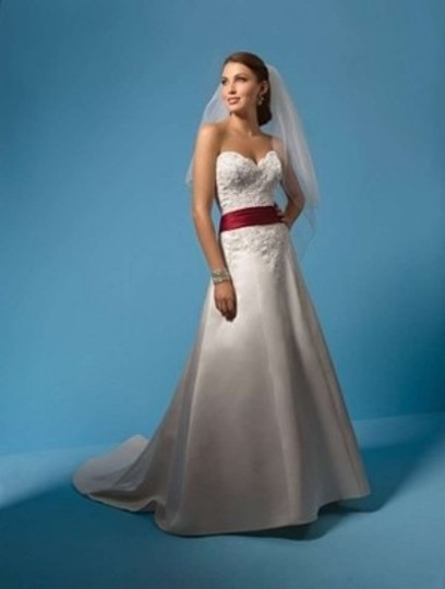 Alfred Angelo Gold/ Satin 2093 Formal Wedding Dress Size 6 (S)