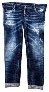 Dsquared2 Capri Paint Splatter Capri/Cropped Denim-Distressed