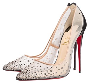Christian Louboutin Crystal Hematite Pumps