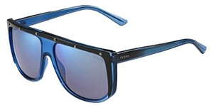 Gucci GUCCI NAVIGATOR BLUE MIRRORED MEN'S SUNGLASSES