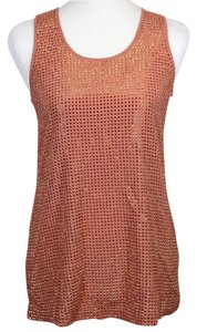Gucci Studded Sleeveless Top Peach