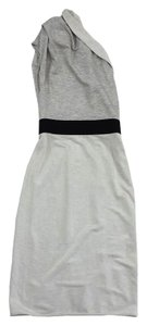 Black Halo short dress Grey One Shoulder on Tradesy