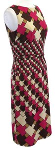 David Meister short dress Multi Color Belted Sleeveless on Tradesy