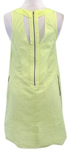Rebecca Minkoff short dress Neon Yellow Striped Cotton Shift on Tradesy
