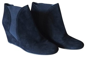 Stuart Weitzman Fall Winter Suede Wedge Black Boots