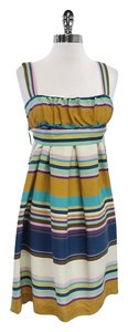 Max Mara short dress Multi Color Striped Silk on Tradesy