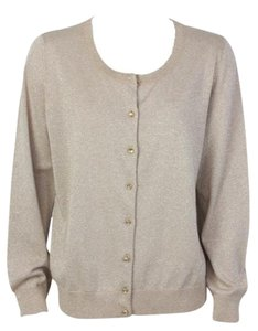 Talbots Button Down Metallic Sweater