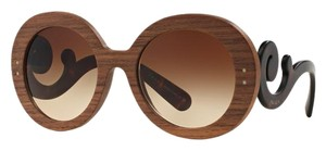 Prada PRADA Wood Baroque Sunglasses Walnut with Havana Temples PR 27RS LIMETED EDITION FREE 2 DAY SHIPPING