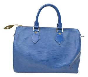 Louis Vuitton Speedy 25 Satchel in blue