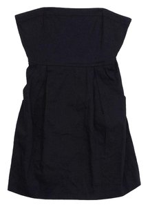 Theory short dress Black Linen Strapless on Tradesy