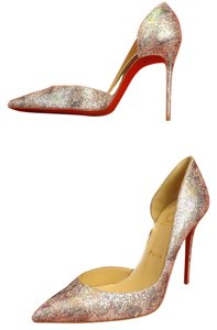 Christian Louboutin Multi Color/ Light Gold Pumps