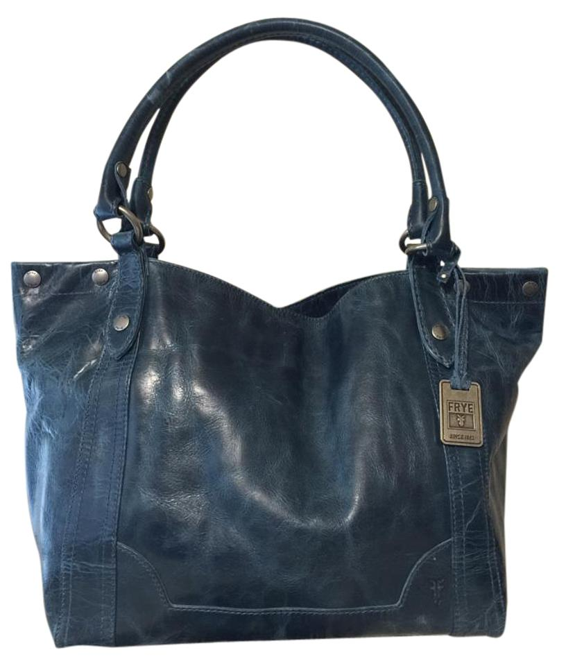 b9f57d788 Frye Jeans Color Rugged Leather Melissa Tote in Blue Image 0 ...