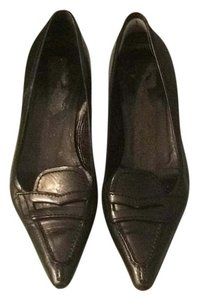 Prada Kitten Heel Loafer Comfortable Black Pumps