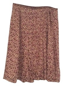 Ann Taylor Skirt Brown and pink