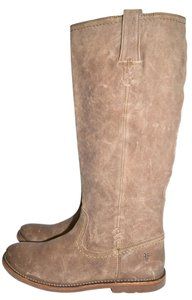 Frye Moto Riding TAUPE Boots