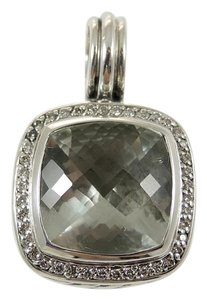 David Yurman David Yurman Sterling Silver .30tcw 14mm Prasiolite Diamond Enhancer