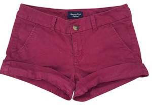 American Eagle Outfitters Cuffed Shorts Maroon