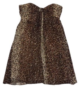 Betsey Johnson short dress Brown Tone Silk Strapless on Tradesy