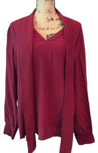 Ann Taylor Bloouse Top Wine