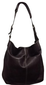 Tignanello Dark Leather Shoulder Hobo Bag