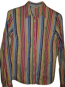 Lacoste Button Down Fitted Top Rainbow