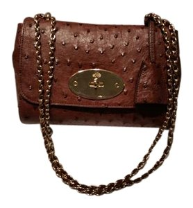 Mulberry Lily Chain Strap Ostrich Shoulder Bag