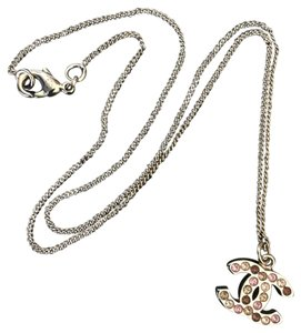 Chanel Chanel Classic CC Gold Crystal Swarovski Reversible Necklace.