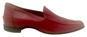 Casadei Loafer Leather Red Flats