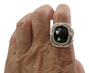 David Yurman Labyrinth 16x14mm Black Onyx with Pave' Diamonds Ring