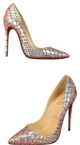 Christian Louboutin Silver/Black Gold Pumps