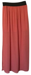 Nine bird Maxi Skirt Peach