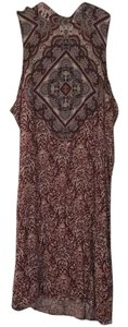 American Eagle Outfitters short dress Maroon, navy, brown and cream on Tradesy