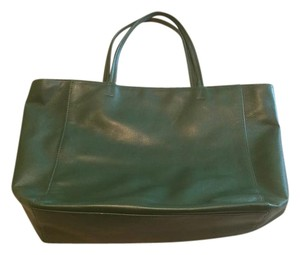 Barneys New York Tote in Military Forest Green