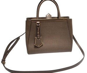 Fendi Leather Snap-tab Closure Cross Body Bag