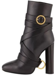 Tom Ford Leather Ankle Boot Black Boots