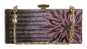 Judith Leiber Pink and Brown Clutch