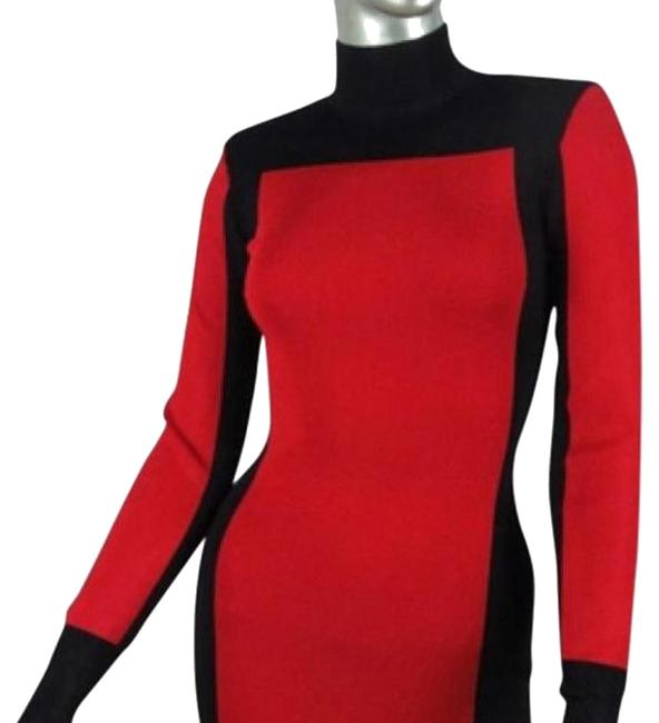 Item - Black and Red H&m Above Knee Night Out Dress Size 6 (S)