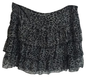 Siren Lily Mini Skirt Gray animal print