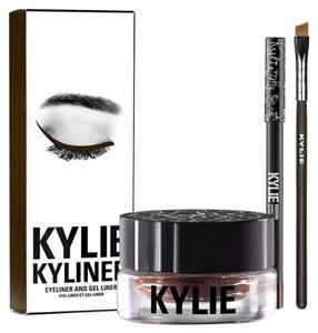 Kylie Cosmetics Nip/BROWN | KYLINER KIT KYLINER/1 Gel Creme' Eyeliner/1 EyePencil/1 Full Sized Synthetic Angled EyeBrush