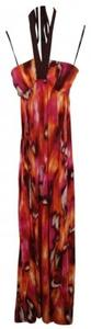 Abstract Moire Maxi Dress by 2b bebe Halter Maxi Style#bt718