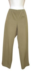 Eileen Fisher Cropped Cotton Capris Elastic Capri/Cropped Pants Olive