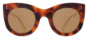 Illesteva Illesteva Cat-eye BOCA Mirrored Tortoise Sunglasses in Havana Cream