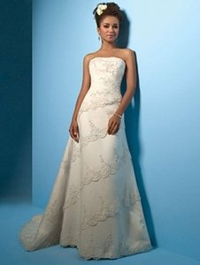 Alfred Angelo Ivory 2001 Formal Wedding Dress Size 22 (Plus 2x)
