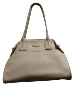 Tod's Pebbled Satchel in Ivory
