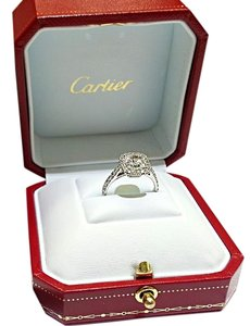 Cartier Cushion Cut F-VVS1 Diamond Set In Cartier Diamond Mounting.
