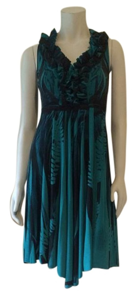 dbb4fa81434d Guess By Marciano Black Teal Mid-length Casual Maxi Dress Size 2 (XS ...